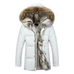 Men Women Lovers Clothes Coats Parkas 2017 New Winter Cashmere Wool Hooded Jacket Thickened Warm Fur Collar Men's Down Jacket