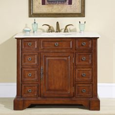 Shop for Silkroad Exclusive Greenfield Single-sink Bathroom Vanity. Get free delivery On EVERYTHING* Overstock - Your Online Furniture Outlet Store! 72 Inch Bathroom Vanity, Single Sink Bathroom Vanity, Bathroom Vanity Cabinets, Bathroom Countertops, Stone Countertops, Vanity Sink, Bath Vanities, Bathroom Furniture, Bathroom Ideas