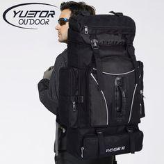 YUETOR 60L 야외 배낭 남여 여행 다목적 등산 배낭 하이킹 큰 용량 여행 캠핑 스포츠 가방