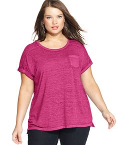 Style&co. Plus Size Short-Sleeve Patch-Pocket Tee