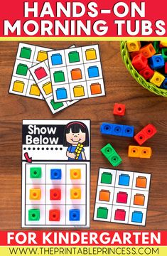 Starting the school day with interactive, hands on activities is a great way to introduce your kindergartners to centers and sharing materials in the classroom. These files are editable and can be used year round. Students will love practicing their name, colors, patterns and fine motor skills. These tubs are also available in a bundle!