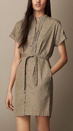 Burberry Brit Graphic Flower Print Dress