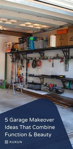 There are tons of decor ideas for those who want to go beyond with their garage decor! Try these fabulous garage makeover ideas.  #GarageMakeoverIdeas #GarageDesignIdeas #GarageDecorIdeas