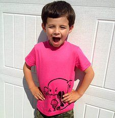QUIRKIE KIDS is a line of pink tees for girls AND boys!