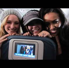 #TVD The Vampire Diaries  Candice Accola(Caroline), Nina Dobrev(Elena/Katherine/Amara etc..) & Kat Graham(Bonnie)