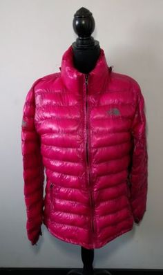 Womens The North Face Summit Series Down Puffer Jacket Size M Pink DEFECT 667f864f0