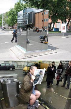 (almost) public toilet
