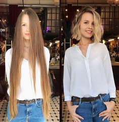 Taking the plunge and getting a cut is a hard decision, trust us we know. Going from long, beautiful locks that have unlimited style options, to hair that can barely touch your shoulders is a