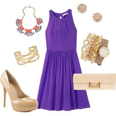 """Late Summer Wedding Guest Style"" by classylibrarian on Polyvore"