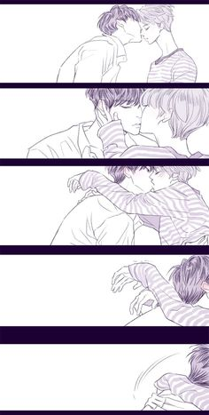 Yoonmin Fanart, Vkook Fanart, Jimin Fanart, Baekyeol, Chanbaek, Vmin, Levi X Eren, Anime Love Couple, Cute Gay