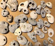 Sea Glass Crafts, Seashell Crafts, Beach Crafts, Native American Tools, Hag Stones, Pebble Art, Pebble Mosaic, Button Art, Stone Art