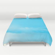 Blue Cotton Candy Clouds Duvet Cover