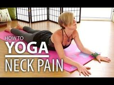 Yoga post on Yoga For Neck & Shoulder Pain. Gentle Restorative Yoga Flow For Beginners - ...