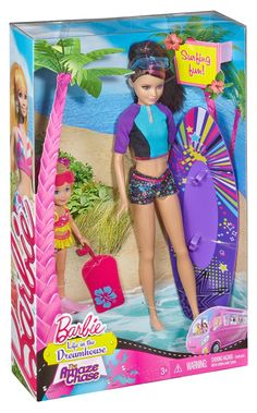 Amazon.com: Barbie Life in the Dreamhouse The Amaze Chase Surfing Skipper and Chelsea Doll (2-Pack): Toys & Games