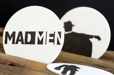 mad men coasters by ruff house art
