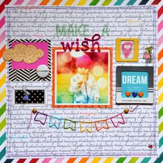 punk projects: How to use Busy Background Papers in your Scrapbooks