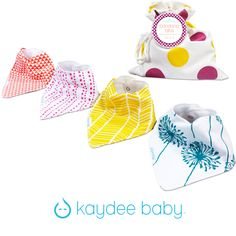 Kaydee Baby Dandelions bandana bib collection for girls
