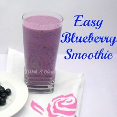 With A Blast: Easy Blueberry Smoothie {thick & refreshing!}   #smoothie #drinks #beverage #blueberry