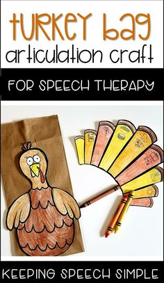 This fun turkey speech craft will keep students motivated and engaged to practice speech targets while creating a fun turkey bag! All targets are picture supported making this craft easy to use with your preschool and elementary students. There are 57 sound targets included with this resource! These printables require no prep. Just add some crayons, scissors and glue with a basic paper bag. No paper bag? No problem! This craft can stand alone without the bag. Click here to see more!