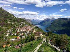 """55 Likes, 1 Comments - Lara Guidobono (@lara_guidobono) on Instagram: """"Lago di Lugano 💎 #brè#lugano#lago#svizzera#pasqua"""""""