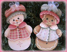 Items similar to Gathering Easter Eggs Gingerbread and Bunny Painting E-Pattern on Etsy Disney Christmas Decorations, Christmas Crafts, Christmas Ornaments, Felt Ornaments Patterns, Wood Ornaments, Bunny Painting, Tole Painting, Gingerbread Crafts, Gingerbread Man
