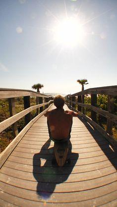 #Long Board, #Beach, #Walkway