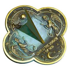 Rome 2340 Angel Sundial, Solid Brass With Verdigris Highlights, Diameter Time Changer, Indestructable Dog Bed, Gothic Cathedral, Brass Bed, Garden Angels, Pet Gate, Time In The World, Dog Houses, Ancient Art