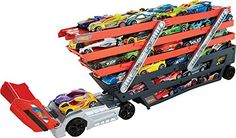 Easy and fun load and hauler for Hot Wheels vehicles Layer upon layer, load your favorite cars, lift and go! Built to transport cargo in sleek style. toys4mykids.com