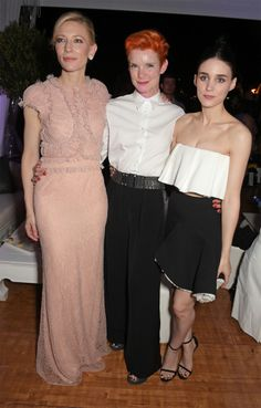 Cate Blanchett, costume designer Sandy Powell and Rooney Mara attend Carol party at Baoli Beach