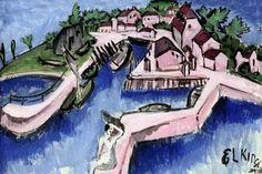 Ernst Ludwig Kirchner - 1880-1938. Berlin. The port of Fehmarn 1913. Bremen Kunsthalle.