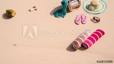 Stock Video of Blank stop motion on white beach sand (tropical island) with sun hat, bag, towels, flip flops(sandals) and coconut. Add your own # hashtag. at Adobe Stock Flip Flop Sandals, Flip Flops, Stop Motion, Sun Hats, Stock Video, High Quality Images, Stock Footage, Towels, Adobe