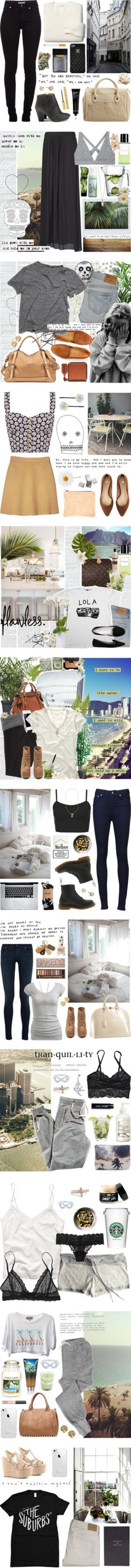 """SET ARCHIVE: Neutrals"" by c0ffee-kid ❤ liked on Polyvore"