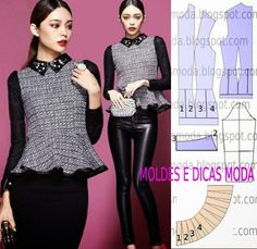 CAST BLOUSE-43 - Templates for Measure Fashion