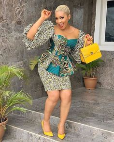 Admirable Ankara styles that will leave you to stand out . Ankara Dress Designs, Ankara Dress Styles, African Lace Dresses, African Dresses For Women, African Attire, African Wear, African Lace Styles, Ankara Gowns, African Style