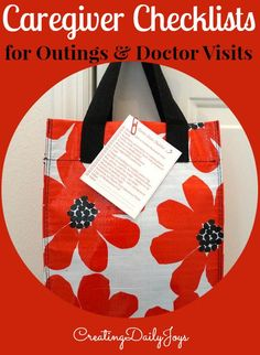 Caregiver's Checklists for Outings and Doctor Visits | Creating Daily Joys