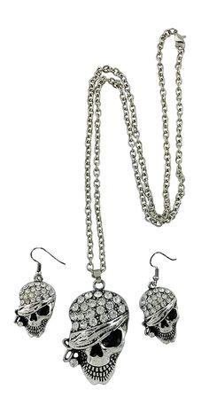 Pirate Skull Head Necklace  #JewelryForSale