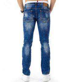 Pánske modré riflové nohavice