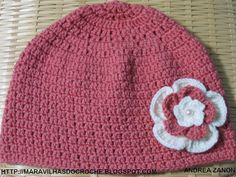 As Receitas de Crochê: GORRO DE CROCHE PARA ADULTO