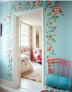 cath kidston style, would love a house decorated like this!