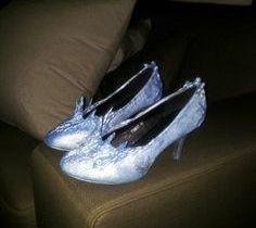 Disney Frozen Elsa inspired shoes.