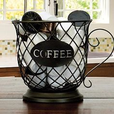 LOVE this! Holds my k-cup coffee pods and my creamers on my home coffee station! #CoffeePods