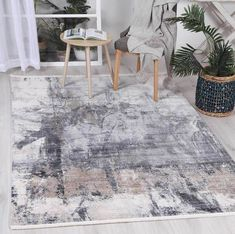 Istanbul Modern Aydeniz Blue Ash Rug   Pile Height: 5mm Material: 65% Polypropylene,35% Polyester Rug Type: Indoor Easy to clean Style(s): Modern & Contemporary Pattern(s):Vintage, Modern