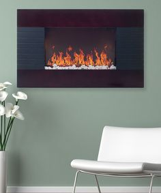 Look at this Mahogany Even Glow Electric Remote Control Fireplace on #zulily today!