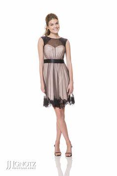 Bari Jay Fashions look book short, black bridesmaid dress