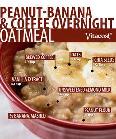 Peanut-Banana & Coffee Overnight Oatmeal