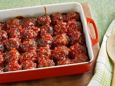 Comfort Meatballs recipe from Ree Drummond via Food Network