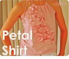 crafterhours: Petal Shirt: A Tutorial