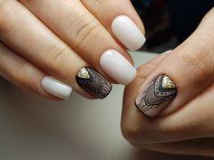 Manikűr - ötletek a köröm tervezéséhez VK Gelish Nails, Nail Manicure, Nail Polish, Nails 2018, Black Gold Jewelry, Makeup Tattoos, Silver Nails, Beauty Makeup Tips, Nail Shop