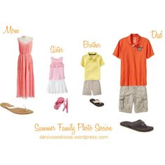"""What to Wear """"Summer Family Photo Session Clothing Inspiration"""" by luvpugs on Polyvore"""