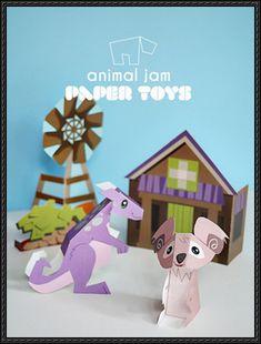 Animal Jam - Kimbara Outback Free Paper Toy Download - http://www.papercraftsquare.com/animal-jam-kimbara-outback-free-paper-toy-download.html